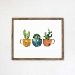 Cactus Trio Art Print