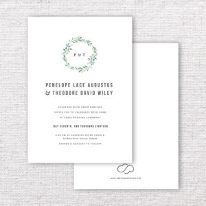Minimalist Garden Wedding Invitations