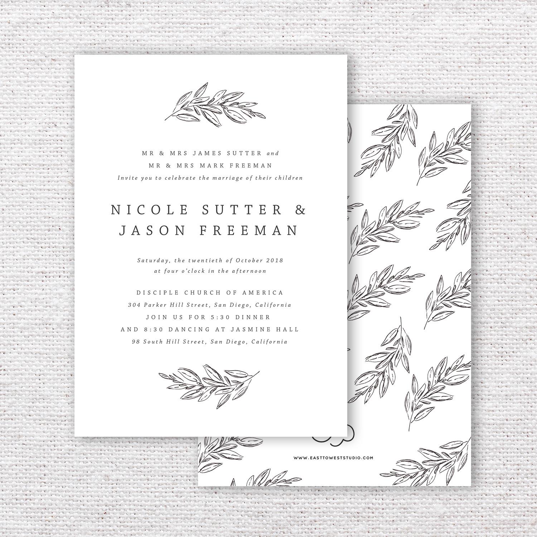 Timeless Modern Wedding Invitations