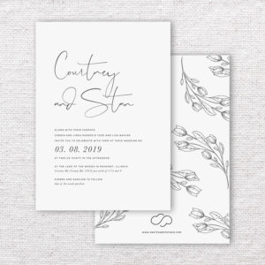 Timeless Bohemian Wedding Invitations