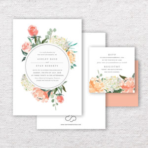 Floral Poppy Wedding Invitations