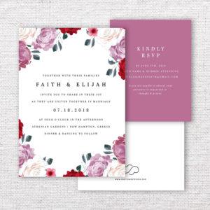 Blushing Bride Wedding Invitations