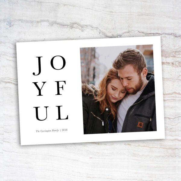 Joyful Christmas Card | East to West Studio