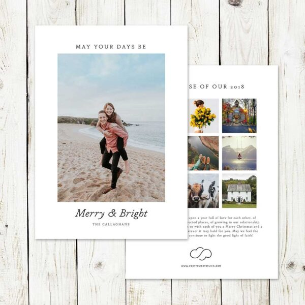 Merry & Bright Christmas Card | East to West Studio