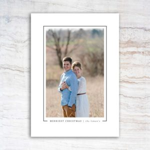 Merriest Christmas Christmas Card | East to West Studio