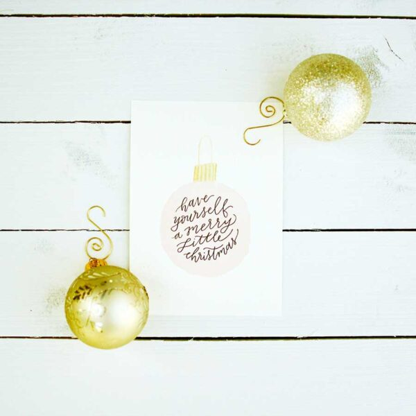 Merry Little Christmas Art Print