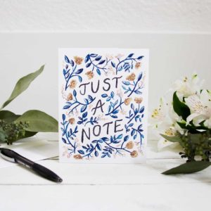 Just a Note Greeting Card | East to West Studio