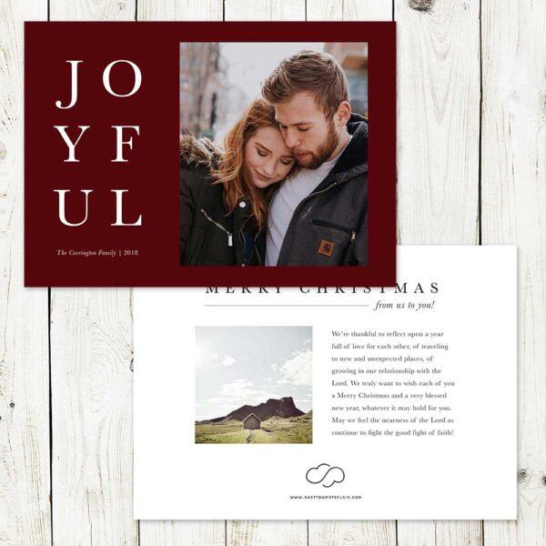 Joyful Christmas Card   East to West Studio