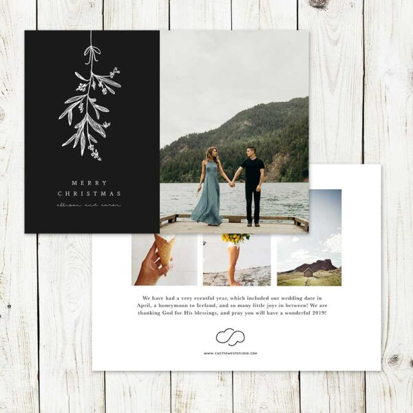 Mistletoe Christmas Card | East to West Studio