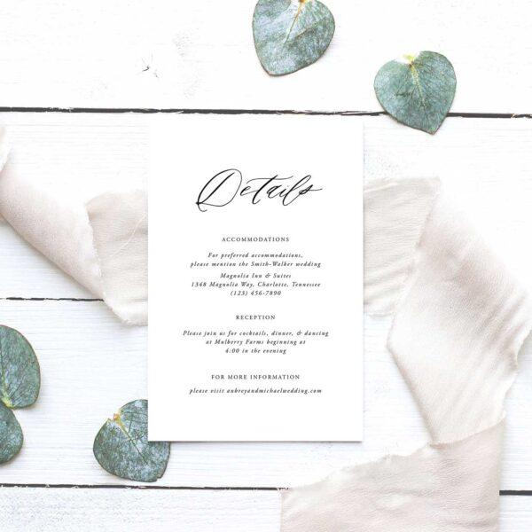 Aubrey Wedding Details